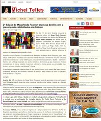 Blog Michel Telles sobre o bate-papo sobre beleza e saúde, mediado por mim, com Dr. Pablo Rassi e Dra. Letícia Andrade, na 2ª edição do Mega Moda Fashion.