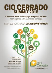 Convite - CIO CERRADO SUMMIT 2015 - 1 Encontro Anual de Tecnologia e Negócios de Goiás - A convergência entre business e tecnologia