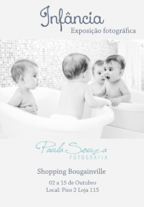 CONVITE - Exposição - Infância - 02 a 15-10 - No Shopping Bougainville.