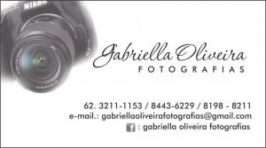 Cartão Gabriella Oliveira Fotografias - fundo branco