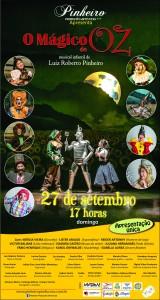 Cartaz do Espetáculo - O Mágico de Oz - Domingo 27 de Setembro.