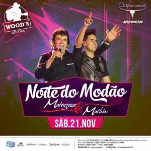 3 Sábado - Noite do Modão - Show com Matogrosso & Mathias - Eflyer