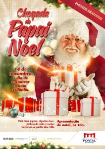Chegada do Papai Noel Portal Shopping