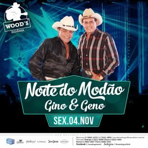 2 Sexta Woods - Show com Gino & Geno - Eflyer