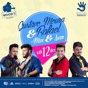 3 Sábado Woods - Gustavo Moura & Rafael - Max & Luan - Eflyer
