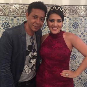 Zezinho Santos, maquiador e editor das revista Bahia noivas e Styllo Bahia com a designer Renata Brossmann David