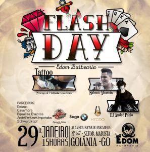Convite Virtual - 1 Flash Day na Edom Barbearia - Sexta 29 - Das 15h às 21h.