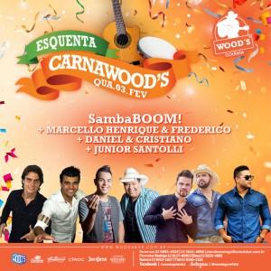 1 Quarta CarnaWoods - Shows de esquenta para o Carnaval - Eflyer