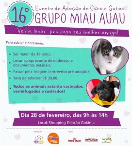 16º Evento de Adoção de Cães e Gatos