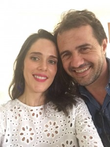 O casal Bárbara Caiado e Carlos Gulherme Tahan