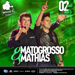 3 Sábado Woods - Show com Matogrosso & Mathias - Eflyer
