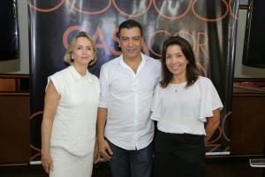Sheila Podestá, Pedro Ariel, diretor de relacionamento e conteúdo da Casa Cor e Eliane Martins lançaram a CASA COR Goiás oficialmente