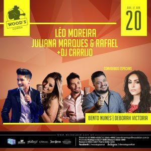 1 Quarta Woods - Shows com Léo Moreira e convidados - Eflyer.