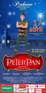 Cartaz do Espetáculo - Musical Infantil Peter Pan - Dia 17 de abril - Teatro Madre Esperança Garrido - 17h.