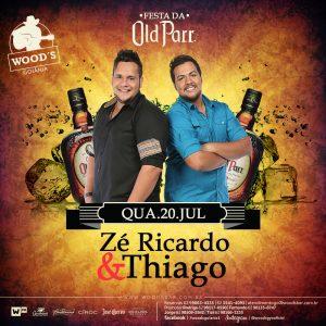 1 Quarta Woods - Festa da Old Parr - Show com Zé Ricardo & Thiago - Eflyer.