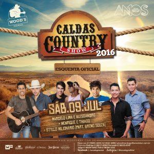 3 Sábado Woods - Festa Esquenta Oficial – Caldas Country Show 2016 - Eflyer