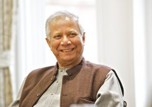 Prof Muhammad Yunus also recipient of the US Presidential Medal of Freedom and the Congressional Gold Medal
