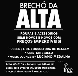 Brechó da Alta acontece neste sábado (3) em Goiânia