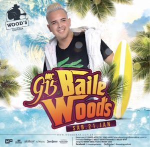 """Eflyer - Show de MC G15 - Sucesso """"Deu Onda"""", neste Sábado, no Woods Goiânia."""