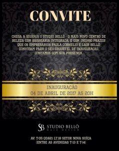 Convite Virtual - Coquetel de Inauguração - Studio Bellô - Terça, dia 04 de Abril