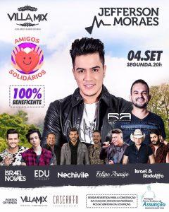 Ao lado de Jefferson Moraes, cantores fazem show beneficente em Goi